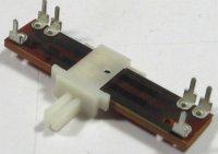 50k/N x2, TOCOS, 40x10x3mm, potenciometr tahový tandemový