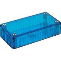 Transparentní pouzdro z polykarbonátu Hammond Electronics 1591 BTBU, 112 x 62 x 31 , modrá