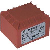 Transformátor do DPS Weiss Elektrotechnik EI 38, prim: 230 V, Sek: 6 V, 533 mA, 3,2 VA