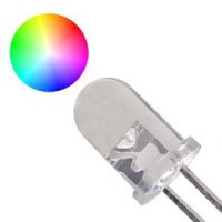 LED 5mm RGB SLOW multicolour 15° 3,5V 2 vývody