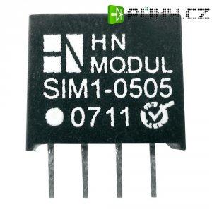 DC/DC měnič HN Power SIM1-0515-SIL4, vstup 5 V, výstup 15 V, 66 mA, 1 W