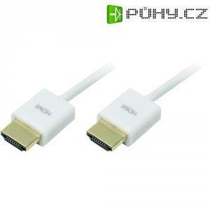 HDMI kabel zástrčka/zástrčka, bílý, 1,5 m