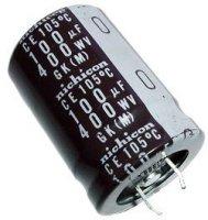 100u/400V 85° 22x30mm, elektrolyt.kondenzátor radiální