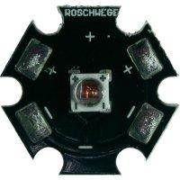 HighPower LED, Star-DR660-10-00-00, 1000 mA, 11,2 V, sytě červená