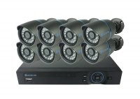 Kamera set SECURIA PRO A8CHV1 800 TVL 8CH DVR + 8x IR CAM analog