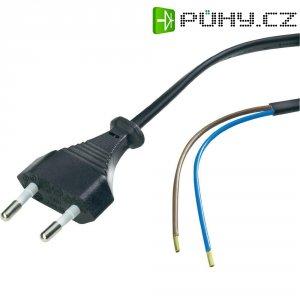 Síťový kabel, euro zástrčka/otevřený konec, 0,75 mm², 1,5 m, černá