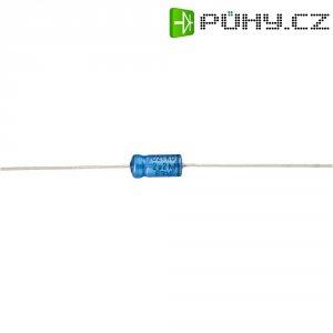 Axiální kondenzátor elektrolytický Vishay 2222 021 38109, 10 µF, 63 V, 20 %, 10 x 4,5 mm