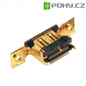 HDMI konektor BKL Electronic 907002, zásuvka vestavná vertikální, 19pól., zlatá