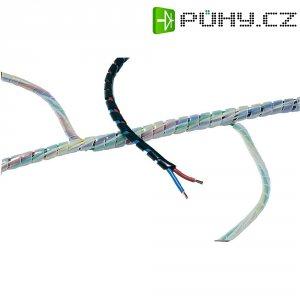 Spirálový kabelový oplet HellermannTyton SBPE4D-PE-BK-5M 161-41104, černá, 5 m