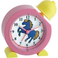 Dětský budík s koněm TFA, 60.1011.12, růžová/žlutá
