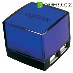 USB 2.0 hub LogiLink, 4-portový, osvětlený, černý
