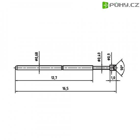 Zkušební hrot PTR 1007-A-0.7N-AU-0.9 - Kliknutím na obrázek zavřete