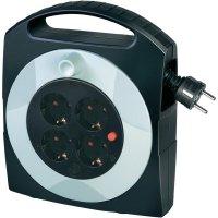Kabelový buben Brennenstuhl Primera-Line Box, 1095450, 4 zásuvky, 10 m, černá