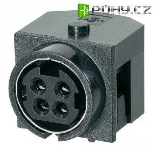 Vestavná síťová zásuvka BKL Electronic, 20 V, 7,5 A, horizontální, černá, 0211003