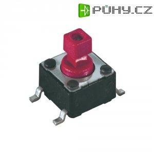 Tlačítko, tlačítko pro montáž na desku plošných spojů 12 V/DC 0.05 A Diptronics DTSM-644R-V-R 1 ks