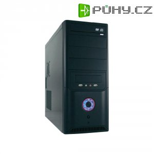 PC skříň Midi tower Joy-IT 649B s 420 W zdrojem