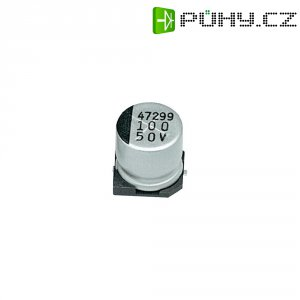 SMD kondenzátor elektrolytický Samwha JC1H107M10010VR, 100 µF, 50 V, 20 %, 10 x 10 mm