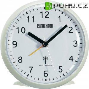 Analogový DCF budík Eurochron EFW 341, HD-TRC202, 110 x 110 x 50 mm, bílá