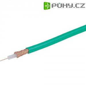 Koaxiální videokabel 75 Ω, 6 mm, zelený