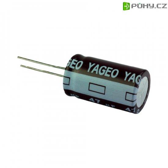 Kondenzátor elektrolytický Yageo SE100M0100B5S-1019, 100 µF, 100 V, 20 %, 19 x 10 mm - Kliknutím na obrázek zavřete