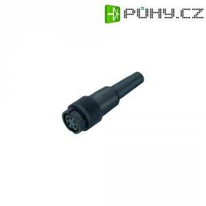 Kabelový konektor Binder 678 (99-0610-00-04), 4pól., 0.75 mm², 4 - 6 mm, IP40, černá