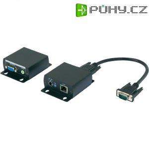VGA + audio prodloužení přes kabel patch, 70 m