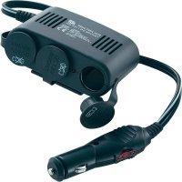 Rozbočovač s USB do autozásuvky, MWU10230, 12 V, 10 A, trojitý