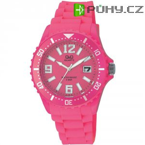 Ručičkové náramkové hodinky Carlton Quartz, silikonový pásek, růžová