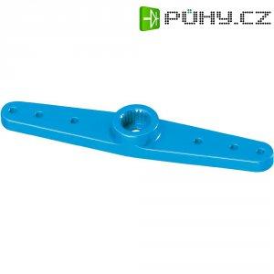 Hliníková páka serva oboustranná Reely, 55 mm, 6 otvorů, modrá
