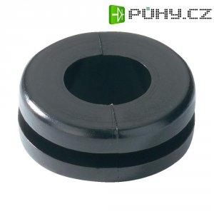 Průchodka HellermannTyton HV1305-PVC-BK-D1 (633-03050), 7,0 x 3,0 mm, černá