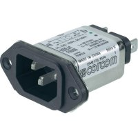 Síťový filtr TE Connectivity, 6609006-1, 2 x 10 mH, 250 V/AC, 1 A