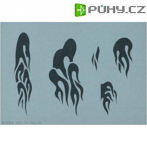 Airbrush šablona ACT A.T., vzor plameny