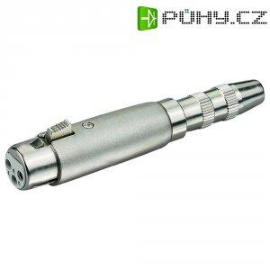 Adaptér Paccs HFA0119 [1x XLR zásuvka - 1x jack zásuvka 6,3 mm], stříbrná
