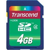 Paměťová karta SDHC Transcend 4 GB Class 4