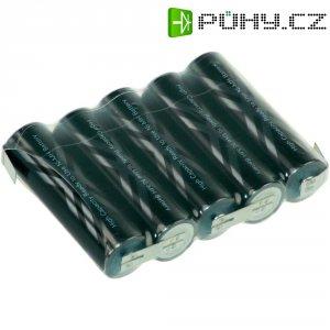 Akupack s pájecími kontakty Sanyo XX AA, 6 V, 2400 mAh