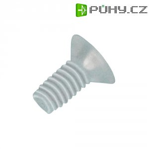 Šroub se zápustnou čočkovou hlavou TOOLCRAFT 839986, 20 mm, plast, polyamid, 10 ks