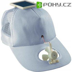 Solární čepice s ventilátorkem, bílá