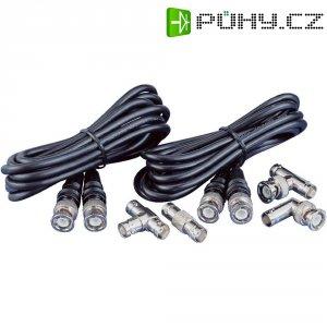 Spojovací kabel BNC a sada adaptérů, černý, 200 cm
