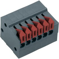 Pružinová svorkovnice 4nás. Push-In AKZ4791/4KD-2.54-H (54791040422F), 2,54 mm, šedá