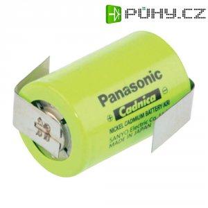 Akumulátor NiCd Panasonic 4/5 Sub-C s pájecími kontakty, 1250 mAh