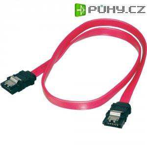Kabel SATA L-typ, zásuvka ⇔ zásuvka, 0,75 m, Digitus