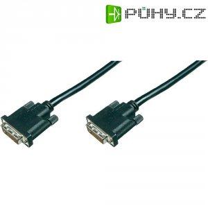 Kabel DVI 18+1 pin. Vidlice ⇔ vidlice, 1 m, černý