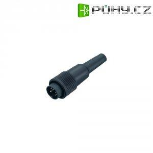 Kabelový konektor Binder 678, 9906170006, 6pól., Ø 0,75 mm², IP40, 6 A, 250 V, černá