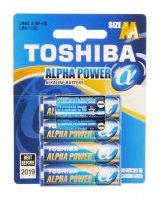 BAT ALPHA POWER LR6 4BP AA TOSHIBA
