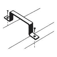Držák plochého kanálu Wallair 125, 2 ks, bílá