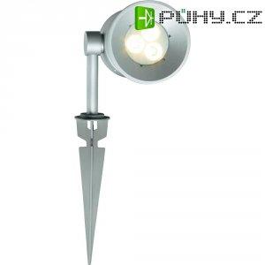 Venkovní zapichovací LED svítidlo Sygonix Nanto, stříbrná/šedá