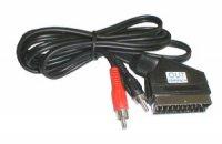 Kabel Scart - 2 x CINCH konektor OUT mono 1,5m DOPRODEJ