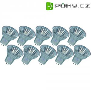 Halogenová žárovka Osram, 12 V, 20 W, G4, Ø 35 mm, teplá bílá, 10 ks