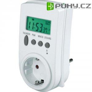 Spínací zásuvka s DCF hodinami GAO, 0799, 3680 W, IP20, digitální, týdenní