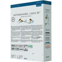 Anténní kabel zásuvka ⇒ vidlice, 75 Ω, >100 dB, 1,5 m, bílý, Inakustik